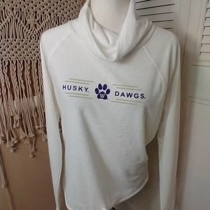 New Huskies Washington dawgs cowl neck sweatshirt